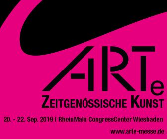 Offizielles Banner des Veranstalters zur ARTe Wiesbaden vom 20. - 22. September 2019.
