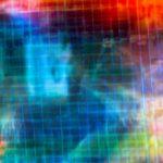 Galerie Ahlemann zeigt ein abstraktes Foto von Ralf Lindenau in der Kategorie Abstraktes in bunten Farben über denen ein unscharfes Raster liegt