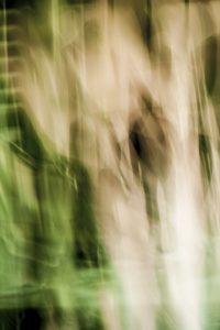 Galerie Ahlemann zeigt ein abstraktes Foto von Ralf Lindenau in der Kategorie Wahnbild in überwiegend weißen und grünlichen Farbtönen.