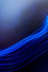 Galerie Ahlemann zeigt ein abstraktes Foto von Ralf Lindenau in der Kategorie Wahnfarben in blauen Farbtönen