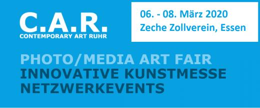 Logo zur Veranstaltung der Contemporary Art Ruhr März 2020 von Galerie Ahlemann in Anlehnung an die offizielle C.A.R. Homepage erstellt.