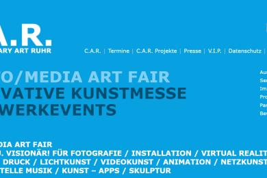 Screenshot der Website des Veranstalters der Contemporary Art Ruhr vom 08. bis 10. März 2019 in der Zeche Zollverein Essen
